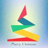 Árvore de Natal abstrata com o símbolo dos flocos de neve novo Fotos de Stock