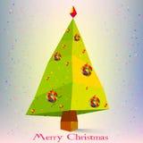 Árvore de Natal abstrata com o símbolo dos flocos de neve novo Foto de Stock Royalty Free