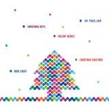 Árvore de Natal abstrata dos elementos de cor Imagem de Stock