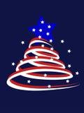 Árvore de Natal americana Fotos de Stock