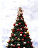 Árvore de Natal ao ar livre imagens de stock royalty free