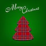 Árvore de Natal, applique, ilustração do vetor Fotografia de Stock Royalty Free