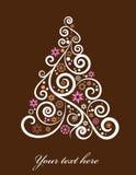 Árvore de Natal artística ilustração royalty free