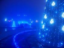 Árvore de Natal artificial destacada Fotografia de Stock