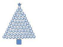 Árvore de Natal azul ilustração royalty free
