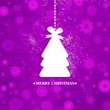 Árvore de Natal azul decorada. EPS 8 Fotografia de Stock