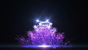 Árvore de Natal azul HD ilustração stock