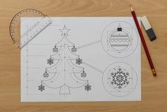 Árvore de Natal Bluerpint foto de stock