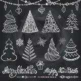 A árvore de Natal, bolas, decoração, deseja quadro ilustração do vetor