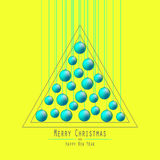 Árvore de Natal Bolas entregando Verde ilustração royalty free