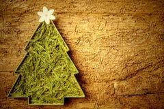 Árvore de Natal bonito com flor Copyspace Imagens de Stock Royalty Free