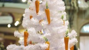 Árvore de Natal branco vídeos de arquivo