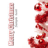 Árvore de Natal branco com presentes Imagem de Stock