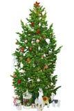 Árvore de Natal brilhante Fotos de Stock Royalty Free
