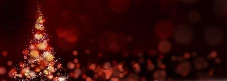 Árvore de Natal brilhante abstrata Fotos de Stock