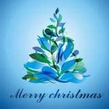 Árvore de Natal colorida ilustração royalty free
