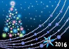 A árvore de Natal colorida festiva Imagens de Stock