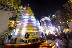 Árvore de Natal colorida na herança 1881 Fotografia de Stock