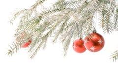 Árvore de Natal colorida prata Foto de Stock