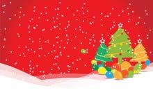 Árvore de Natal com balões Imagens de Stock