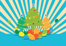 Árvore de Natal com balões Foto de Stock