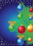 Árvore de Natal com brinquedos Fotografia de Stock Royalty Free