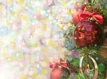 Árvore de Natal com brinquedos Imagem de Stock