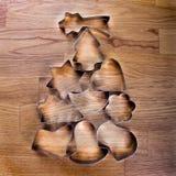 Árvore de Natal com cortadores do bolinho Imagem de Stock