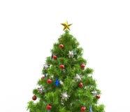 Árvore de Natal com decorações vermelhas Fotos de Stock