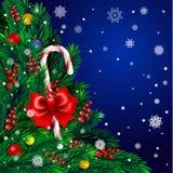 Árvore de Natal com doces Imagens de Stock Royalty Free