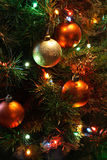 Árvore de Natal com esferas Imagem de Stock Royalty Free