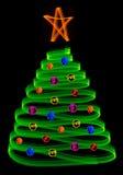Árvore de Natal com esferas Foto de Stock Royalty Free