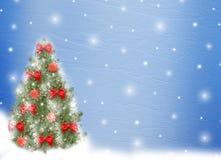 Árvore de Natal com esferas e curvas Fotografia de Stock