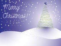 Árvore de Natal com estrelas Ilustração Royalty Free
