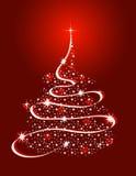 Árvore de Natal com estrelas Fotos de Stock