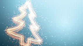 Árvore de Natal com luz de brilho ilustração royalty free