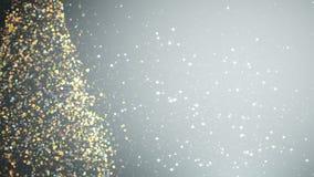 Árvore de Natal com luz de brilho ilustração do vetor