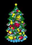 Árvore de Natal com luzes ilustração do vetor