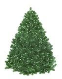 Árvore de Natal com luzes da estrela Fotografia de Stock