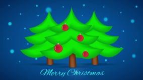 Árvore de Natal com luzes Fundo do laço do movimento ilustração stock