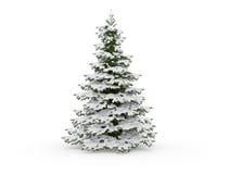 Árvore de Natal com neve ilustração royalty free