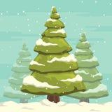 Árvore de Natal com neve Imagens de Stock