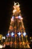 Árvore de Natal com ouro, vermelho e prata Imagem de Stock