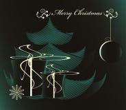 Árvore de Natal com presente Imagens de Stock