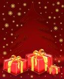 Árvore de Natal com presentes Foto de Stock