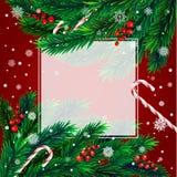 Árvore de Natal com quadro Fotografia de Stock