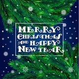 Árvore de Natal com quadro Imagens de Stock Royalty Free