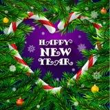 Árvore de Natal com quadro na forma do coração Imagem de Stock Royalty Free