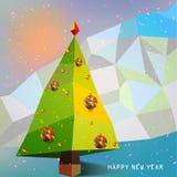Árvore de Natal com símbolo dos flocos de neve Imagem de Stock