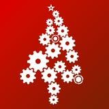 Árvore de Natal contemporânea ilustração stock